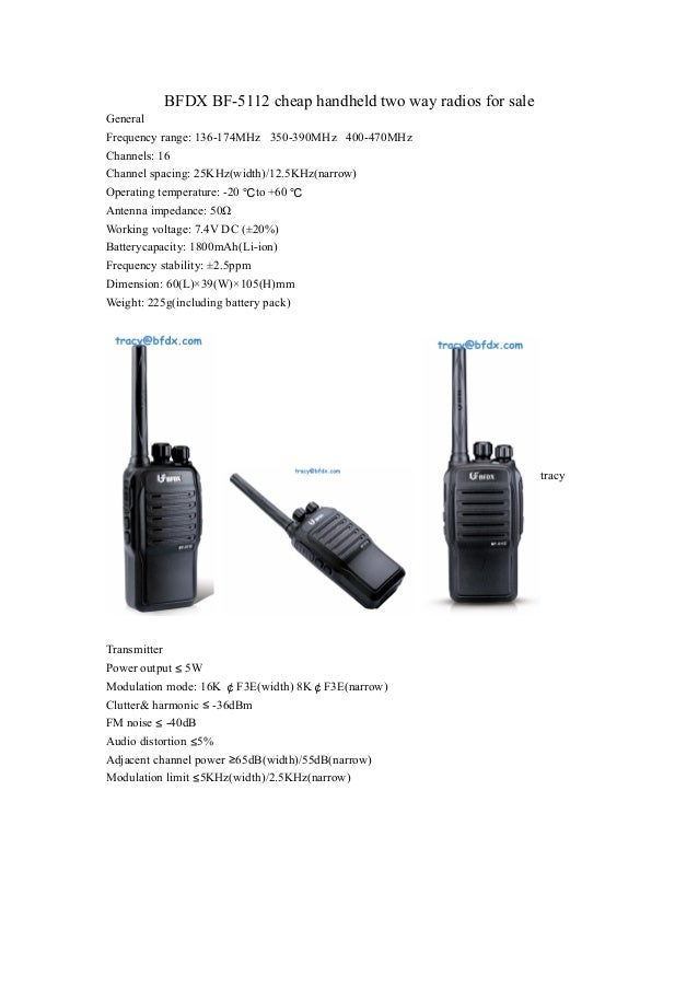 Bfdx bf 5112 cheap handheld two way radios for sale