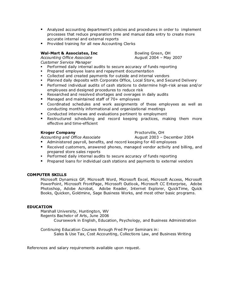 Resume For Quicken Loans