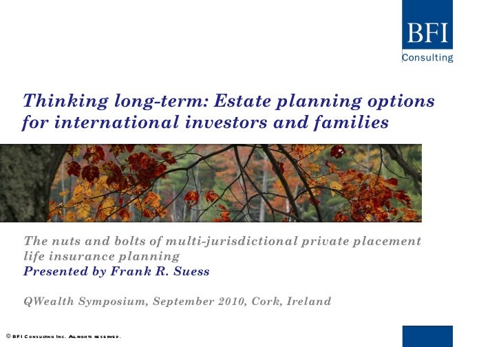 Bfi long term estate planning options for international investors and families