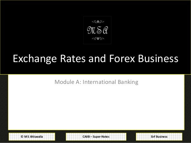 Forex management and global environment