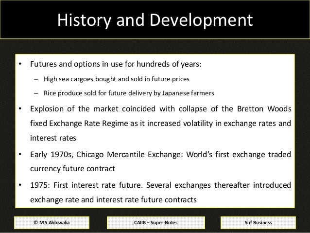 Basics of forex derivatives