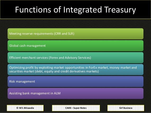 Financial forex and treasury management notes