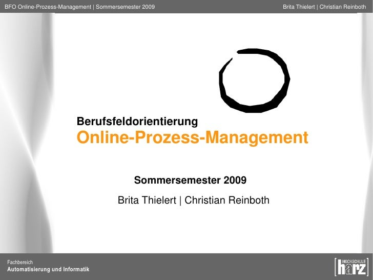 Online-Prozess-Management
