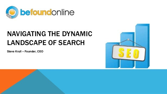 NAVIGATING THE DYNAMIC LANDSCAPE OF SEARCH Steve Krull – Founder, CEO