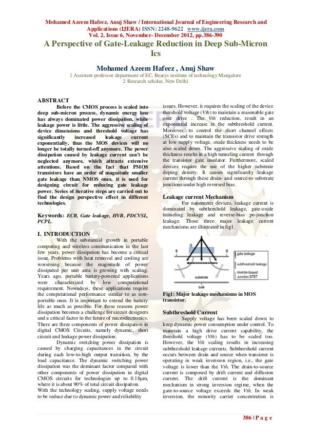 Mohamed Azeem Hafeez, Anuj Shaw / International Journal of Engineering Research and                Applications (IJERA) IS...