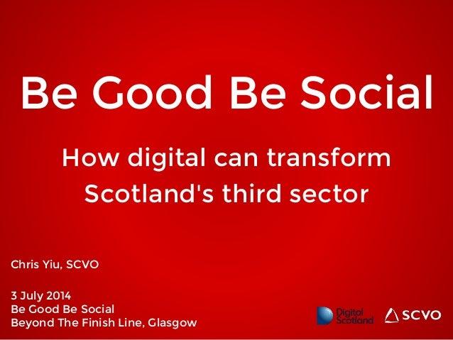 How digital can transform Scotland's third sector