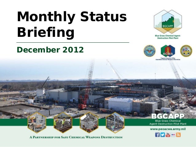 December 2012 BGCAPP Monthly Status Briefing