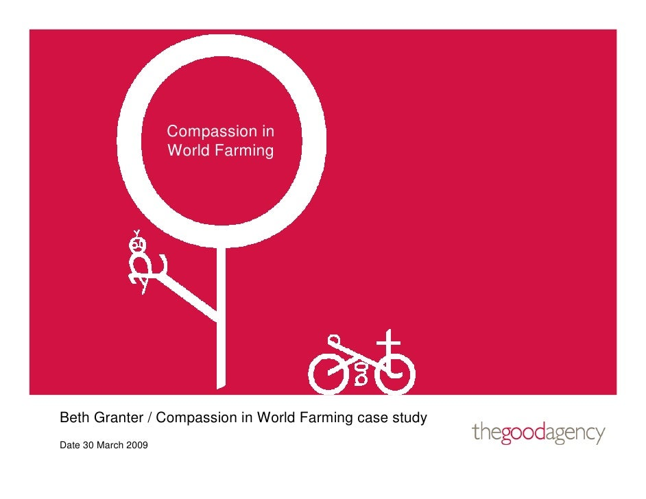 Compassion in                      World Farming     Beth Granter / Compassion in World Farming case study Date 30 March 2...