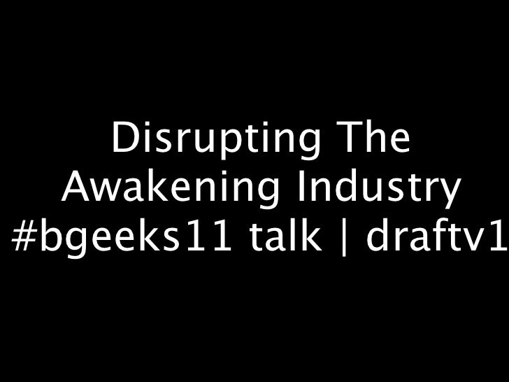#bgeeks11 presentation | draft v1
