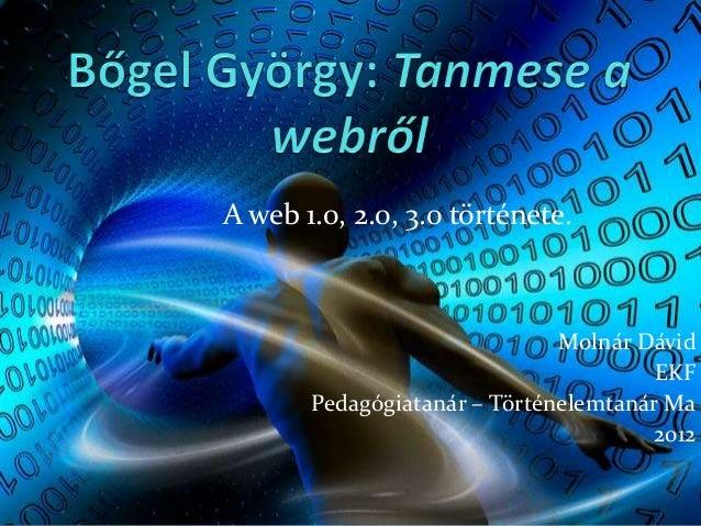 A web 1.0, 2.0, 3.0 története.                              Molnár Dávid                                       EKF       P...