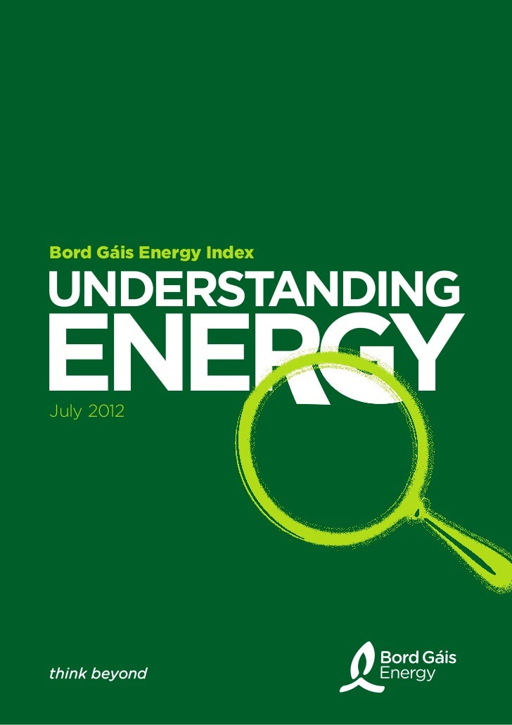 Bord Gáis Energy IndexUNDERSTANDINGENERGYJuly 2012