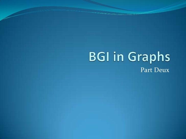 Bgi in graphs part deux
