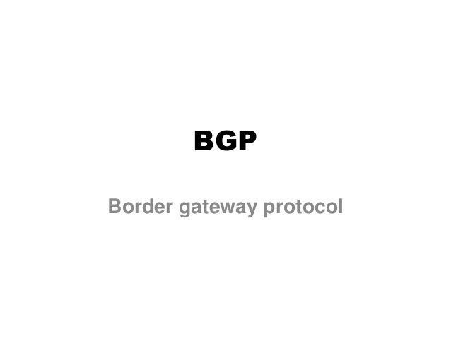 BGP Border gateway protocol