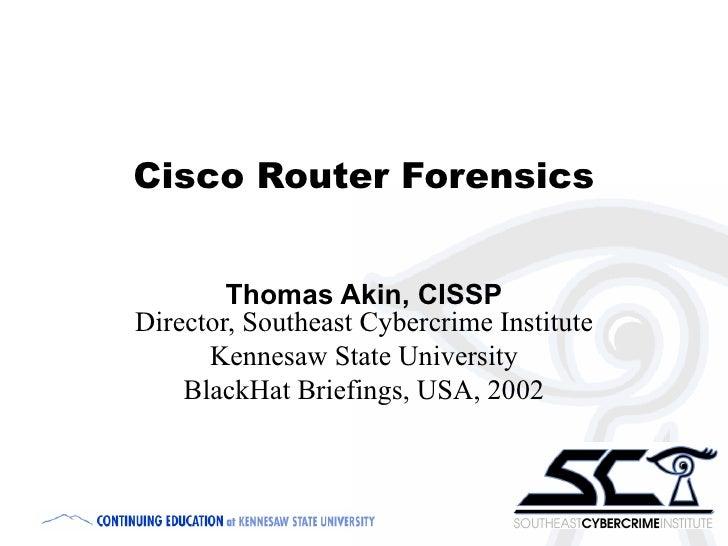 Cisco Router Security