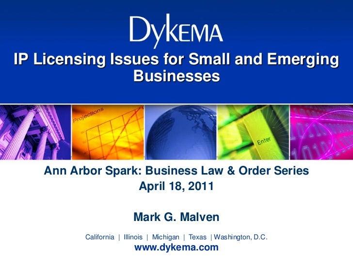 April 2011 - Business Law & Order - Mark G. Malven
