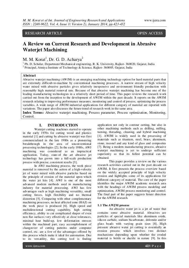 M. M. Korat et al Int. Journal of Engineering Research and Applications ISSN : 2248-9622, Vol. 4, Issue 1( Version 2), Jan...