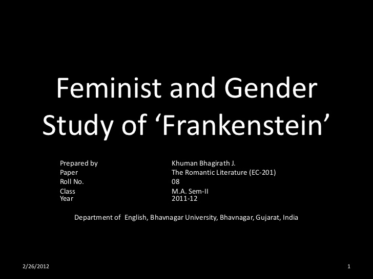 essays on feminism in frankenstein