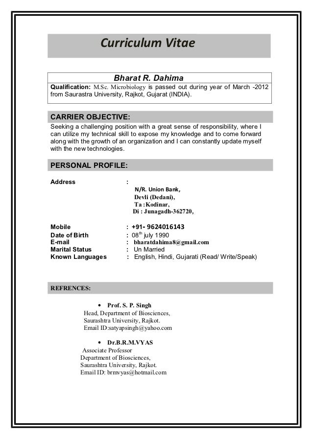 Microbiologist Resume Samples - Madrat.Co