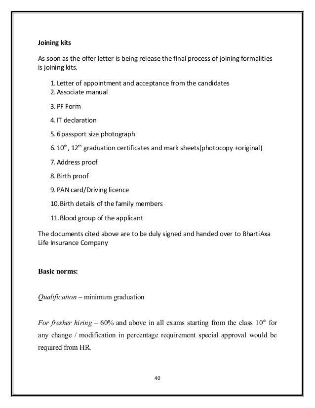 acceptance letter format