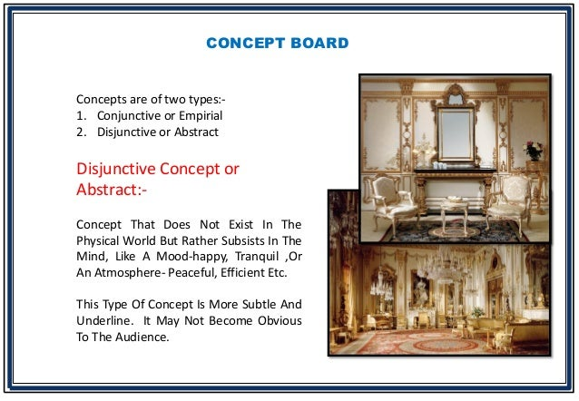 Bhavika goyal b sc interior design presentation for Concept sheet for interior design