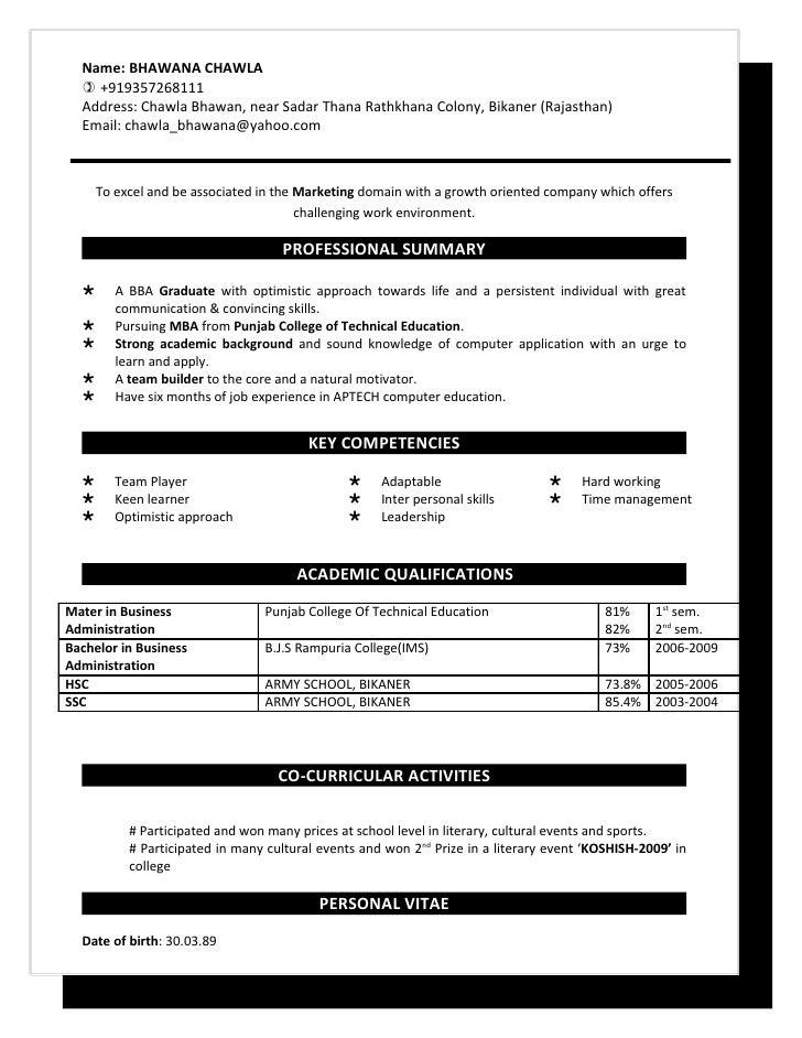 bhawana resume