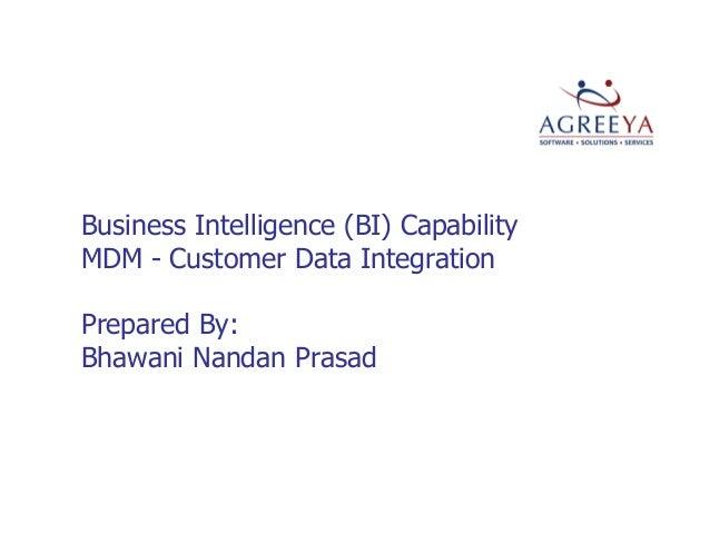 Bhawani prasad mdm-cdi-methodology