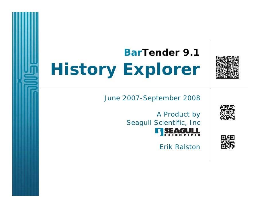 BarTender History Explorer