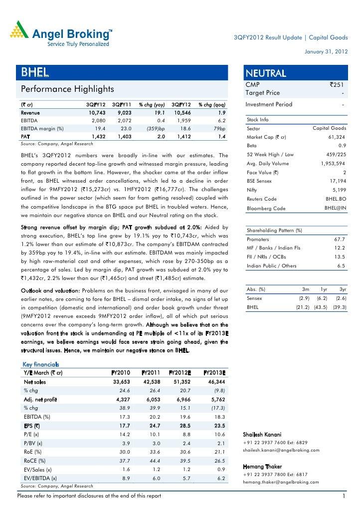 3QFY2012 Result Update | Capital Goods                                                                                    ...