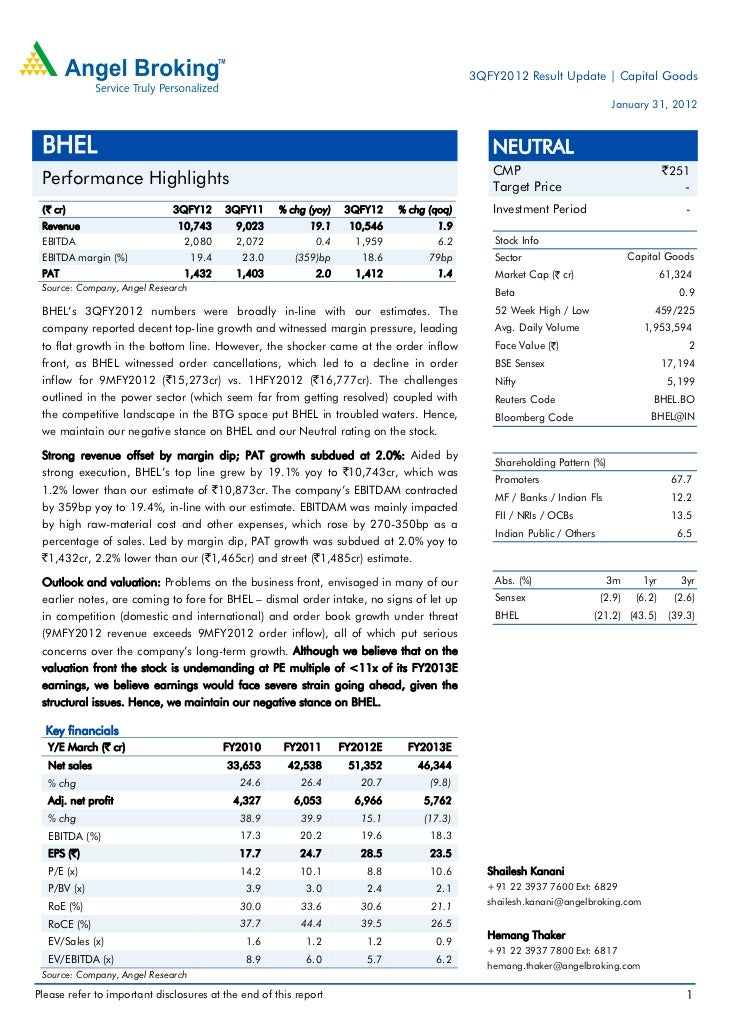 3QFY2012 Result Update | Capital Goods                                                                                    ...