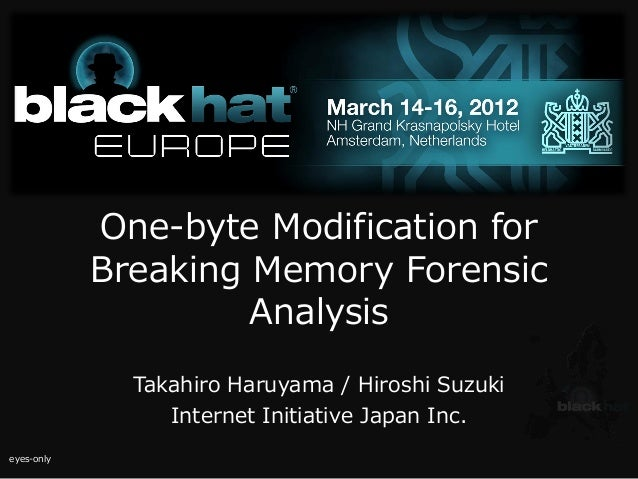 One-Byte Modification for Breaking Memory Forensic Analysis