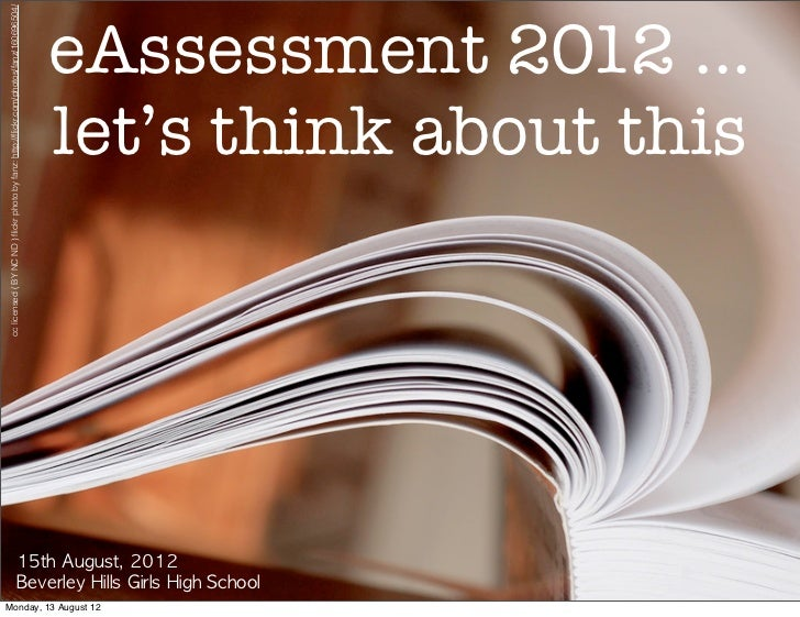 eAssessment - Why and So What?