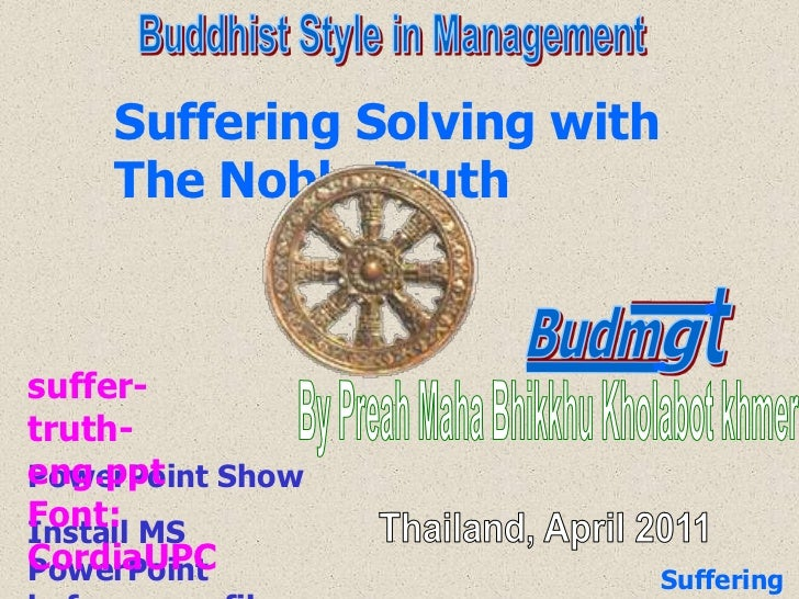 l<br />t<br />l<br />Budm<br />g<br />Buddhist Style in Management<br />Suffering Solving with The Noble Truth<br />suffer...