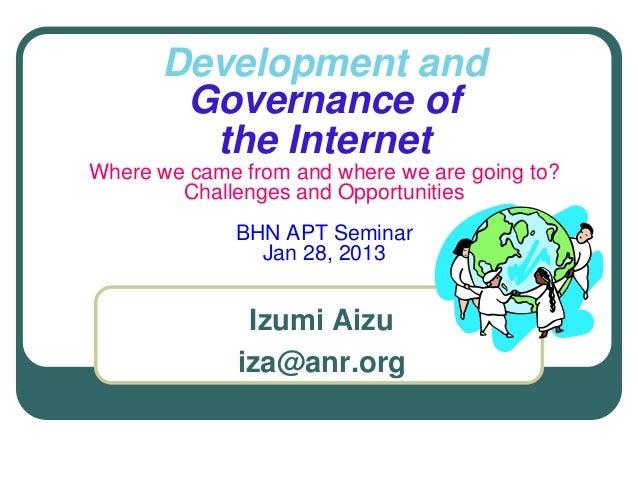 Internet governance and Development 140305