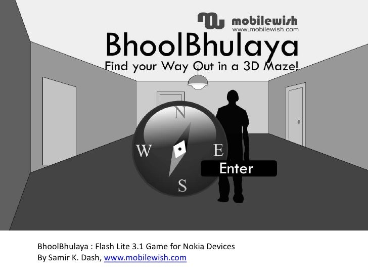 BhoolBhulaya: Find Your Way Out in a 3D Maze (Flasah Lite 3.1 Game for Nokia Devices)