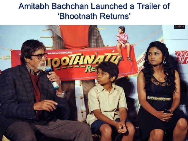 Amitabh Bachchan Launched a Trailer of 'Bhootnath Returns'