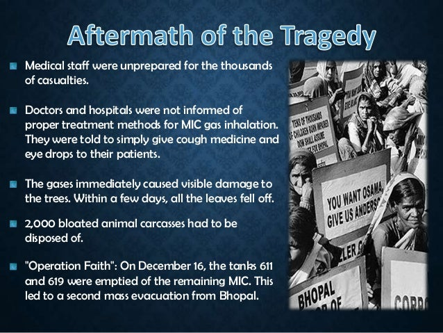 essay gas tragedy bhopal Abstract at midnight on 3 december 1984, a tragedy suddenly occurred without warning one citizen around the union carbide pesticide plant in the indian city of bhopal, madhya pradesh.