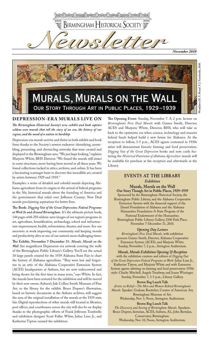 Newsletter                                                                                                 November 2010  ...
