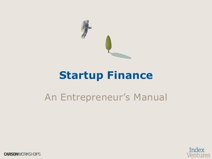Venture Capital: An Entrepreneur's Manual