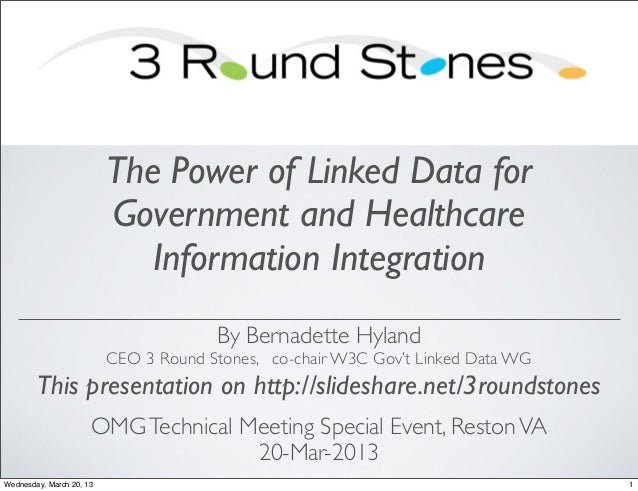 The Power of Linked Data for                          Government and Healthcare                             Information In...