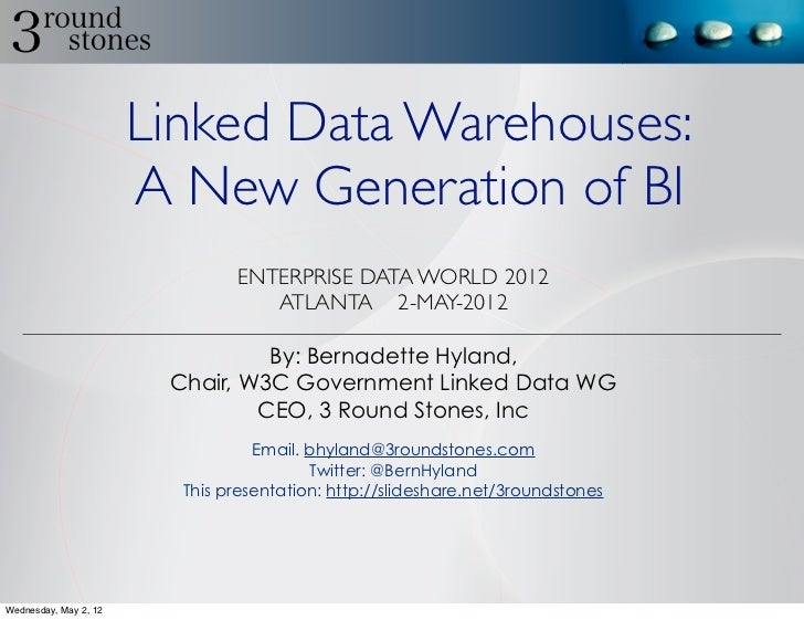 Linked Data Warehouses:                       A New Generation of BI                               ENTERPRISE DATA WORLD 2...