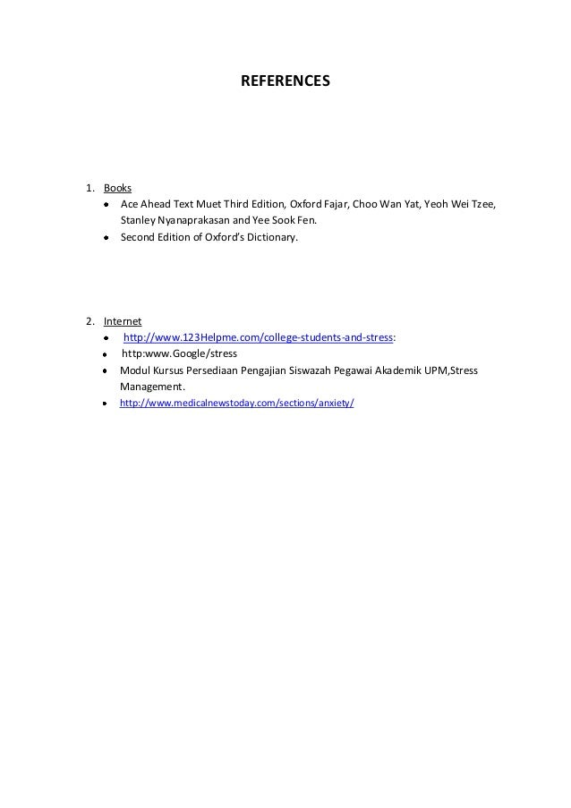 This research paper is due in 2 weeks. Need help with stress. Help?