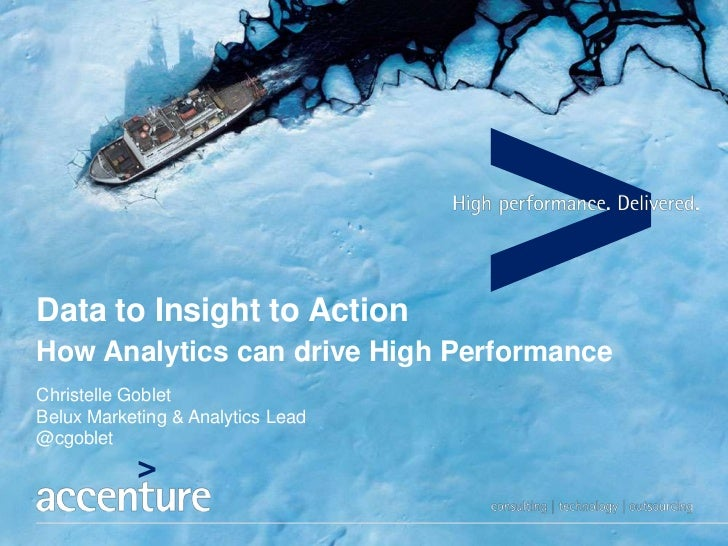 Data to Insight to ActionHow Analytics can drive High PerformanceChristelle GobletBelux Marketing & Analytics Lead@cgoblet
