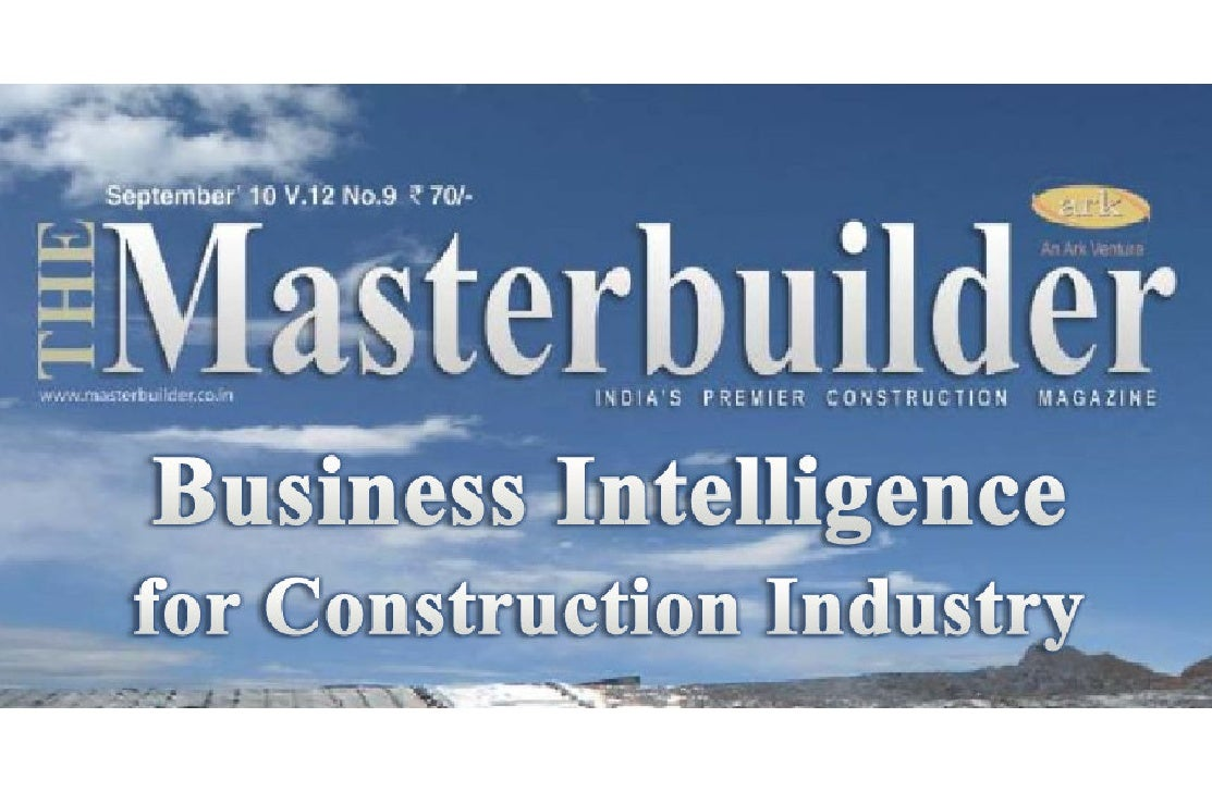 Business Intelligence (BI) for Construction Industry