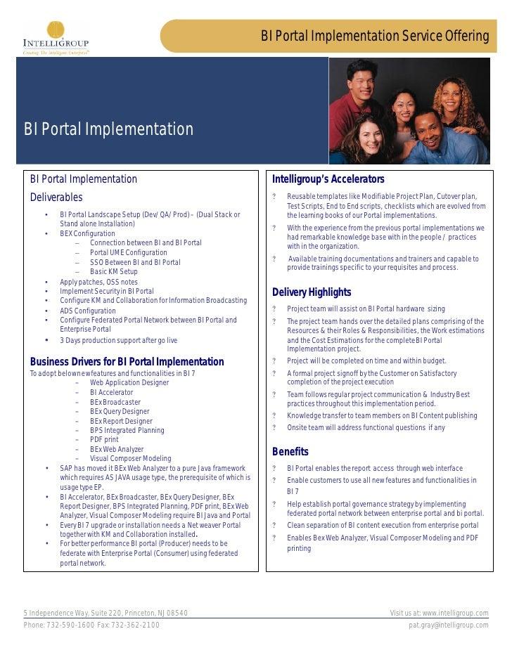 BI Portal Implementation Service Offering     BI Portal Implementation   BI Portal Implementation                         ...