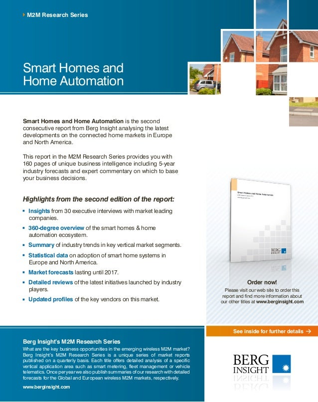 See inside for further details Smart Homes and Home Automation Smart Homes and Home Automation is the second consecutive r...