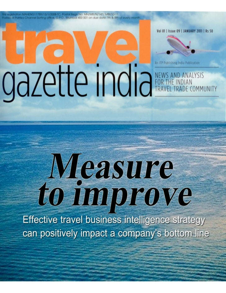 Measure to Improve - BI for Travel Industry
