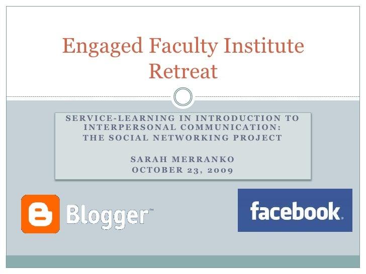 Engaged Faculty Institute - Merranko