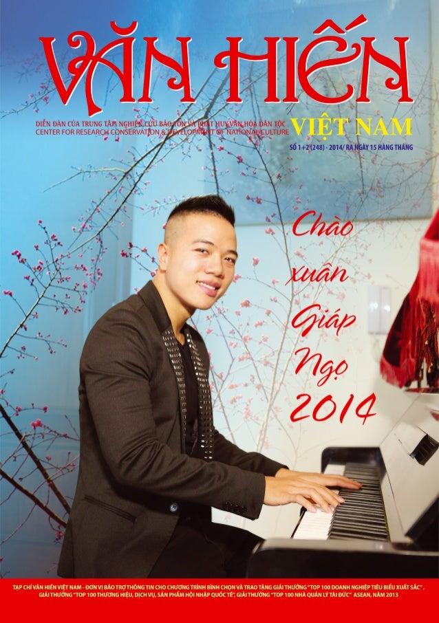 Bìa Văn hiến Việt Nam số Xuân 2014