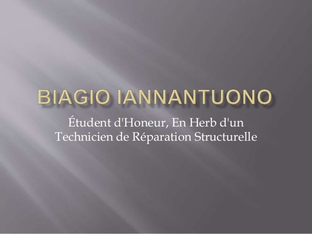 Étudent d'Honeur, En Herb d'un Technicien de Réparation Structurelle