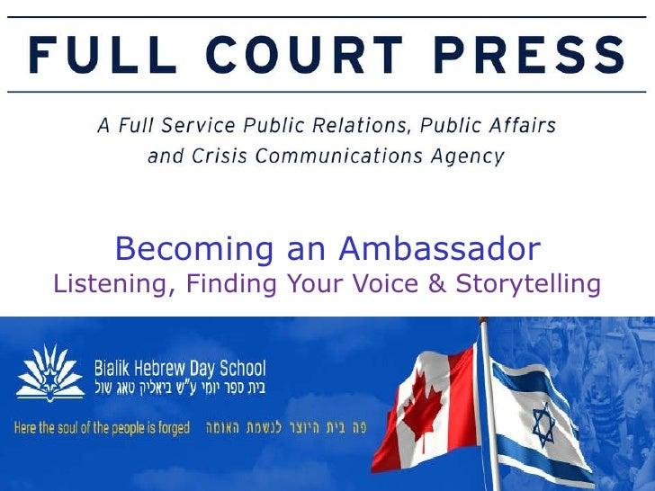 Bialik Ambassador Workshop